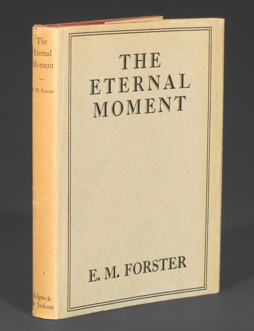 "Primera edición de la novela, como narración corta, incluida en el libro de relatos ""The eternal moment"", 1928."