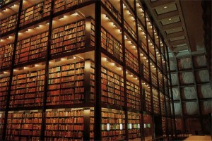 La mayor biblioteca dedicada a la conservación de manuscritos y libros raros, en la Universidad de Yale.