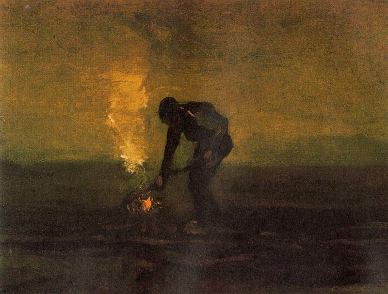 """Cuadro """"Campesino quemando maleza"""", de Van Gogh, elegido por la editorial Gadir para ilustrar la portada de la edición española"""